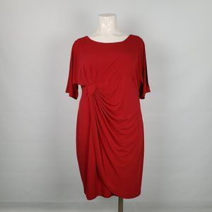 Connected Apparel Red Cold Shoulder Dress Size 24w